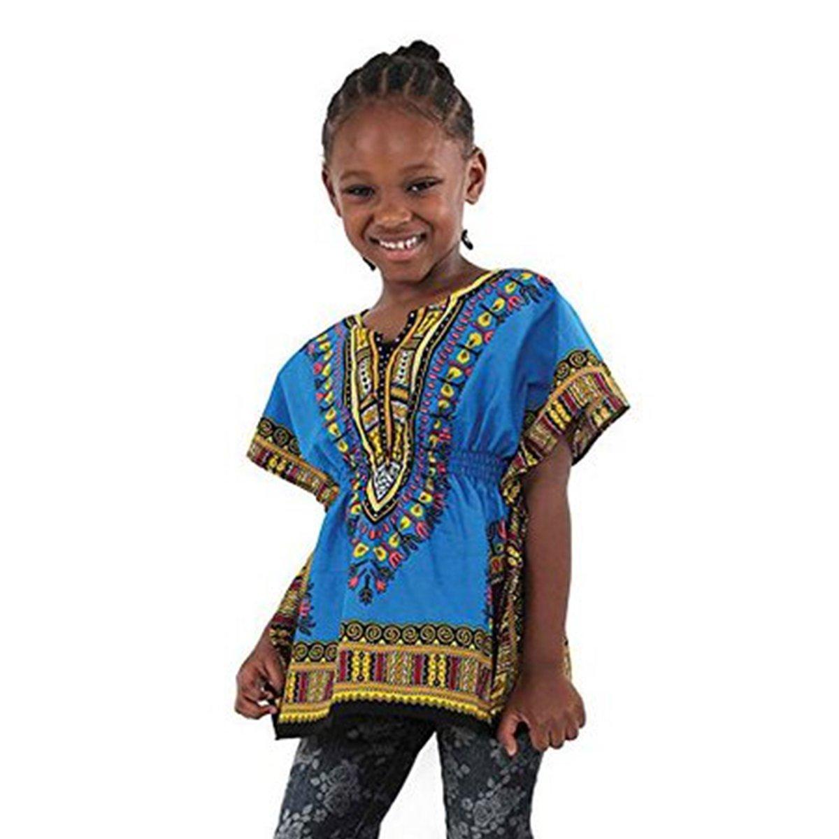 Traditional Elastic Child Dashiki: Trq