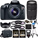 Cheap Canon EOS Rebel T6 DSLR Camera with 18-55mm Lens + Canon EF 75-300mm f/4-5.6 III Lens + Sony 16GB SDHC Card + Sony 32GB SDHC CardCard Reader + Canon EOS Shoulder Bag 100ES + Tripod + Flash Bundle