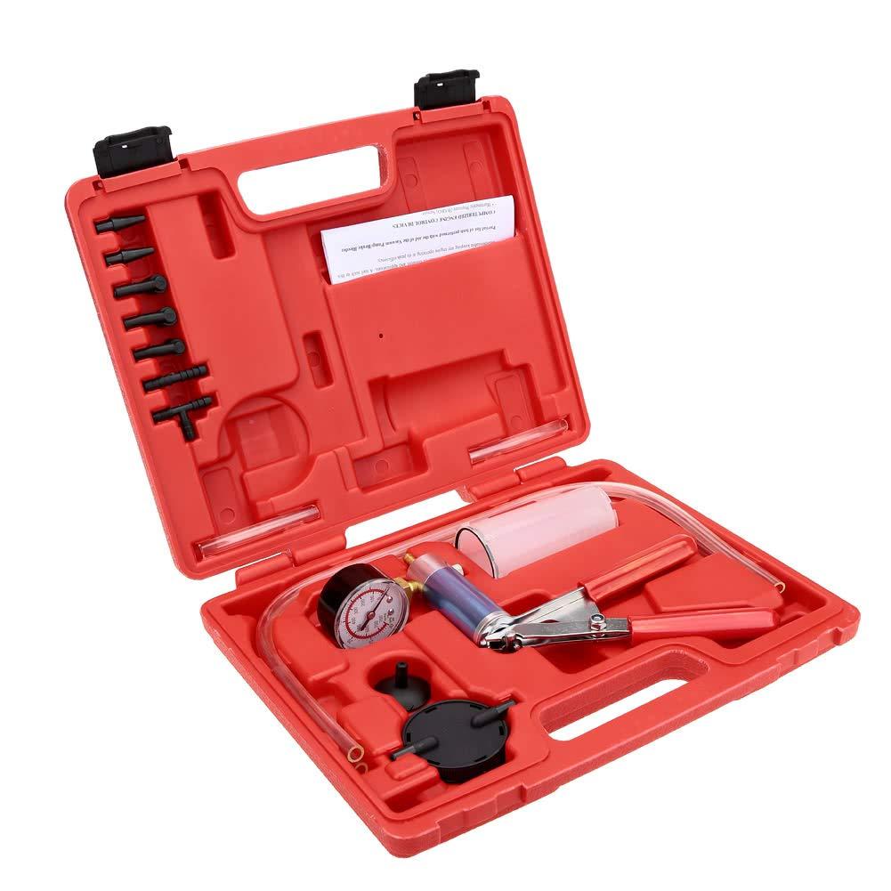 HeavenSense Vacuum Pump Brake Bleeder Tester Vacuum Bleed Test Kit Garage Tool - Quarkscm