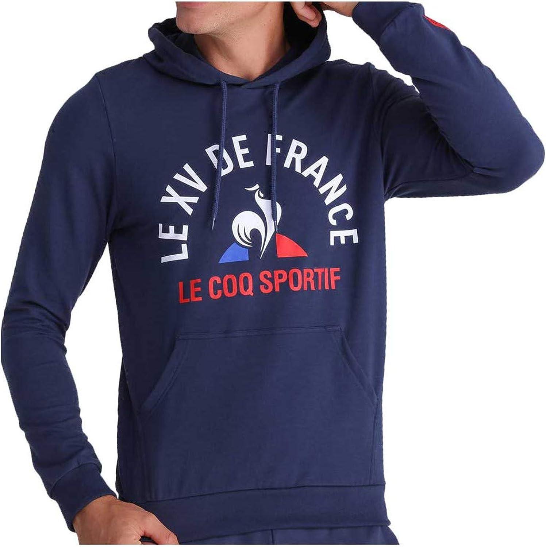 Le Coq Sportif Sweat à Capuche Rugby XV de France, fanwear