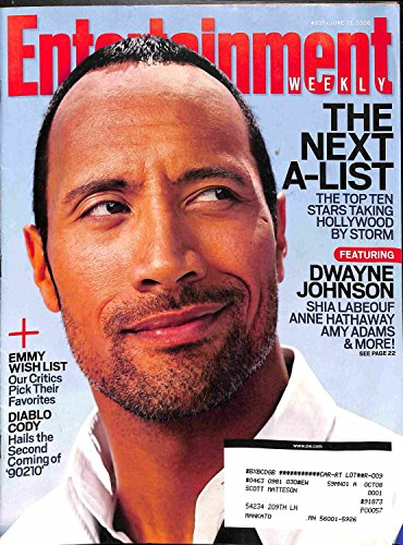Entertainment Weekly (June 13, 2008) Dwayne Johnson (The Next A-List; The Top Stars taking Hollywood by storm, Shia Labeouf; Emmy wish list; Diablo Cody)
