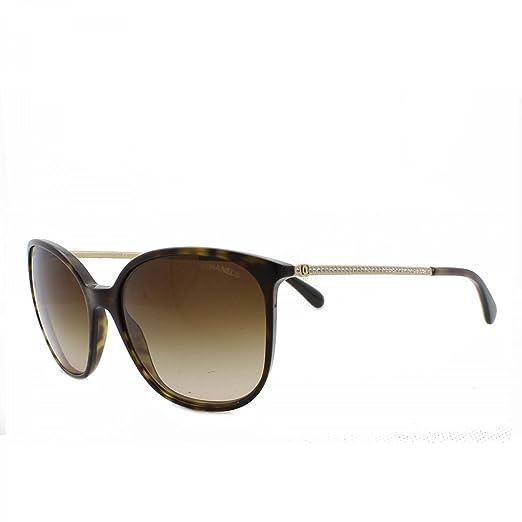 Amazon.com: Chanel 5291b C714/S5 Dark Havana/marrón ...