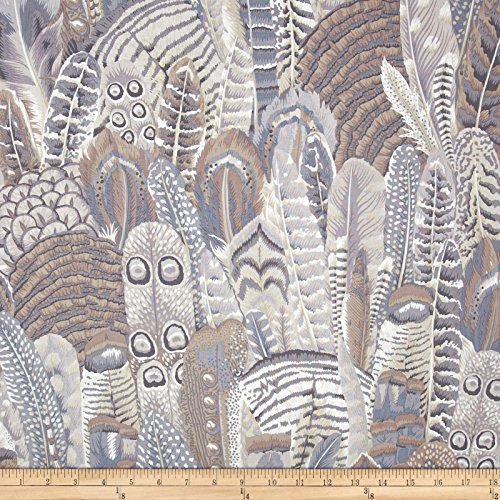 FreeSpirit Fabrics 0366252 Kaffe Fassett Collective Feathers Grey Fabric by The Yard
