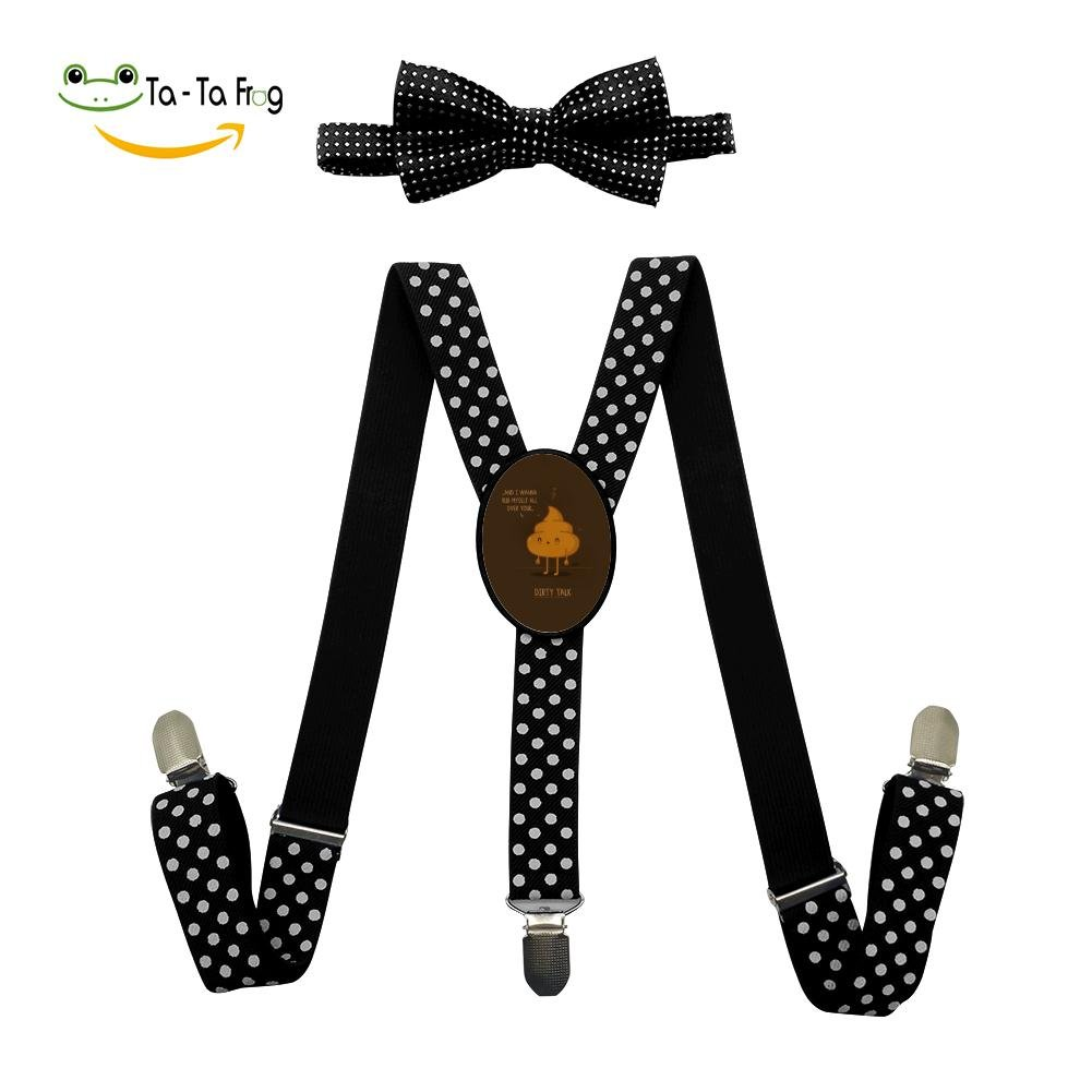 Grrry Kids Dirty Talk Adjustable Y-Back Suspender+Bow Tie