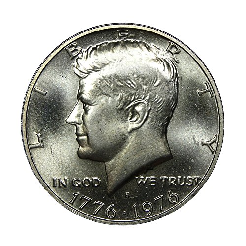 1976-S U.S. 40% Silver Bicentennial John F. Kennedy Half Dollar Coin, Mint State Condition