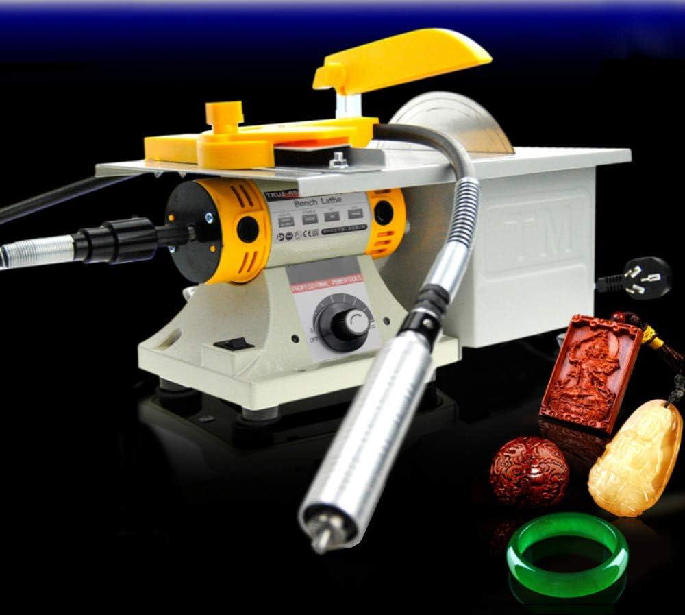 Dzhot51 110V Electric TM-2 Gem Jewelry Polishing Buffer Bench Lathe /& Polisher Buffing Machine Set Polisher 350W