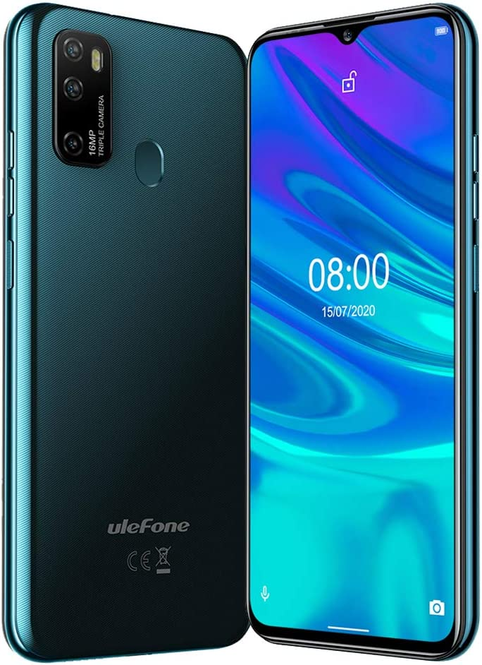 4G Unlocked Cell Phones Ulefone Note 9P, Dual Sim Unlocked Smartphone Android 10, 6.52'' 4GB+64GB, 16MP+5MP+2MP+8MP Quad Camera, GSM Unlocked Phone,Face ID Fingerprint (Dark Green)