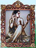 Lady Looking Into Mirror Image of His Love, Wood Frame