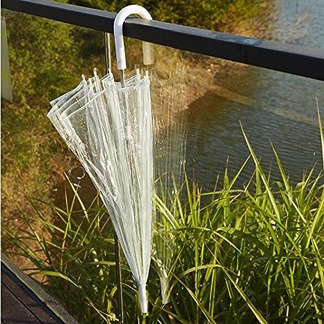 Westeng-Paraguas bastón simple y transparente