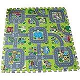 Meitoku Baby play Tapis de sol Puzzle 9pcs / bag Chaque pi¨¨ce = 30x30cm ¨¦pais 1cm