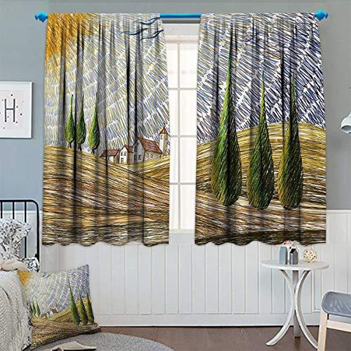Chaneyhouse Italian Waterproof Window Curtain Van Gogh Style