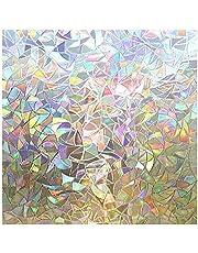 Rabbitgoo 3D No Glue Static Decorative Films Glass Window Film Anti UV
