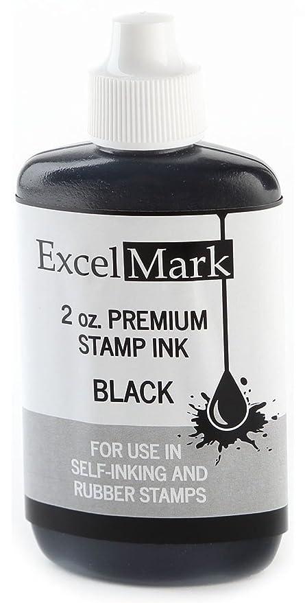 amazon com excelmark premium stamp refill ink black 2 ounce