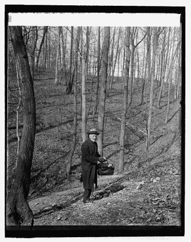 (HistoricalFindings Photo: Dr. Walter Hough of Smithsonian in Arrowhead Quarry,Rock Creek Park,March 1926)