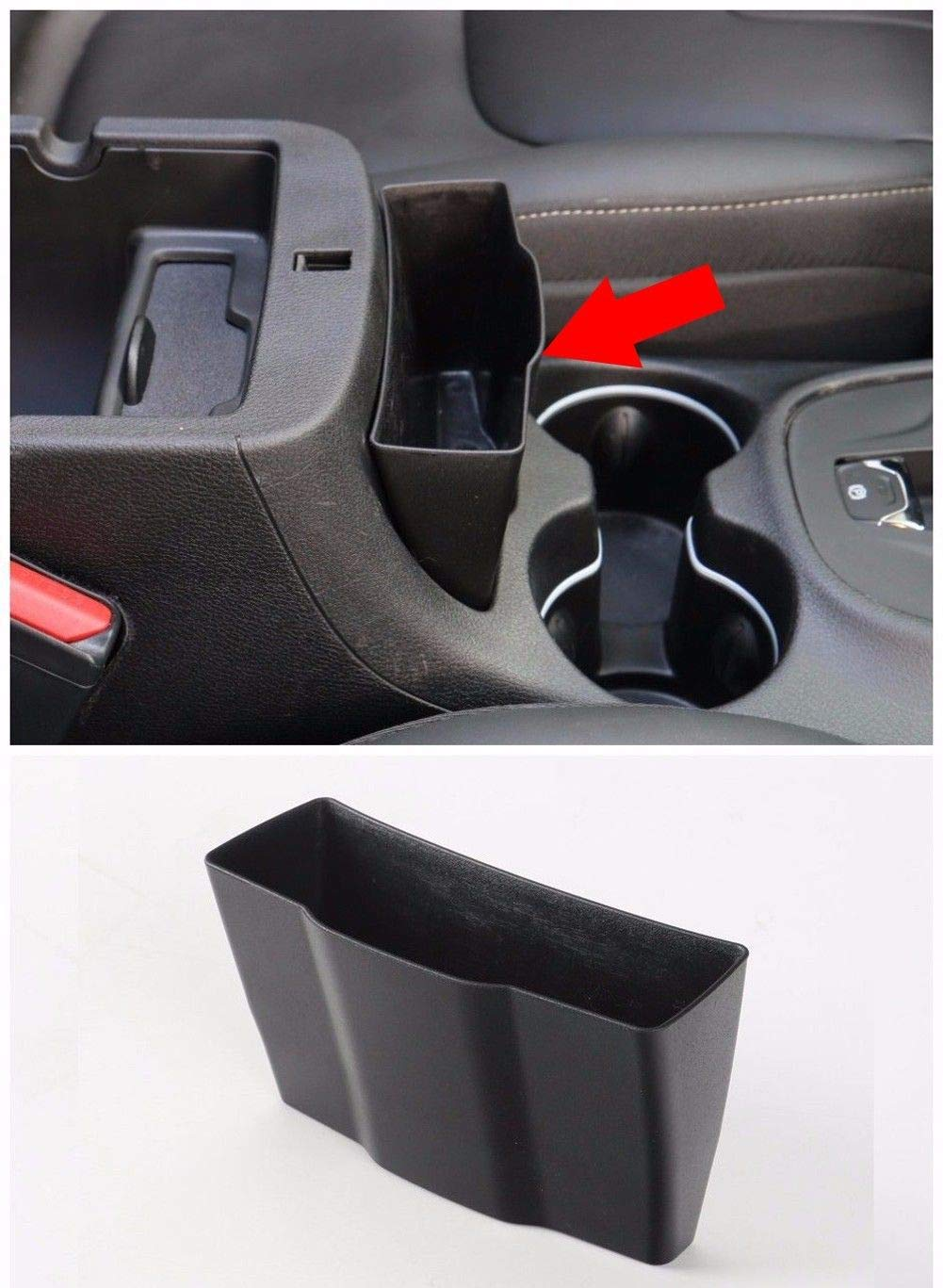 FidgetFidget Car Inner Armrest Storage Box Center Console Holder for 2014-2019 Jeep Cherokee