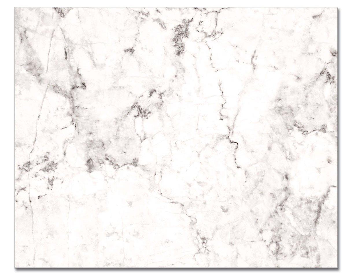 "CounterArt 'White Marble Design' Glass Cutting Board, 15 x 12"""
