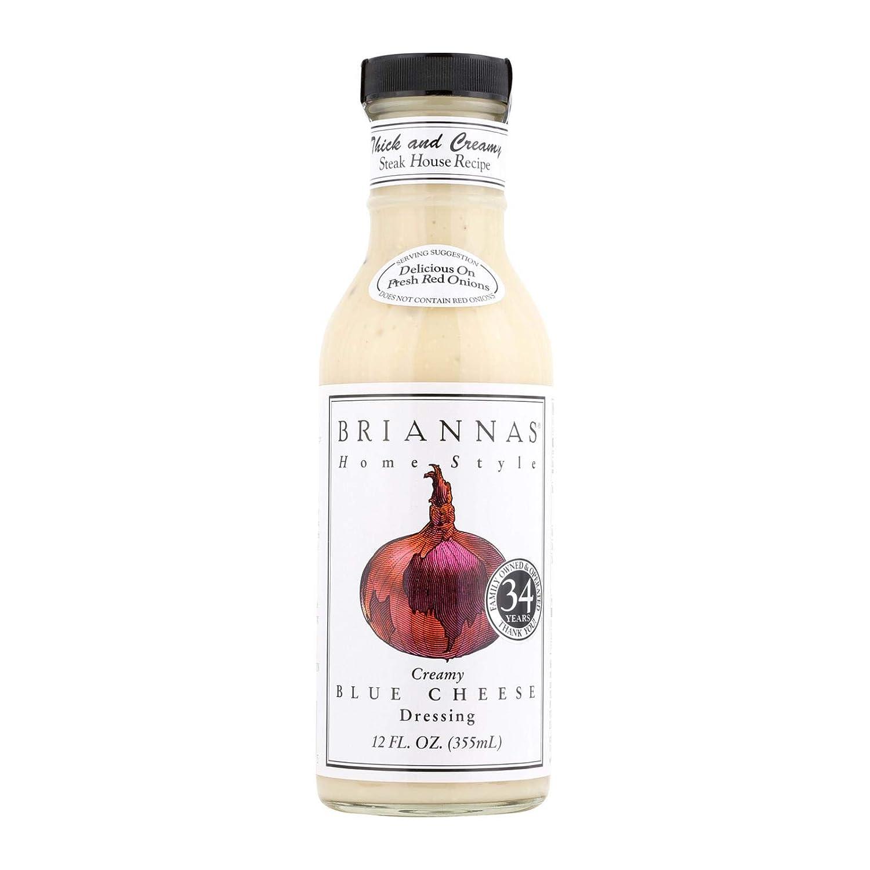 Briannas Homestyle True Blue Cheese 12 Fl Oz (Pack of 6)