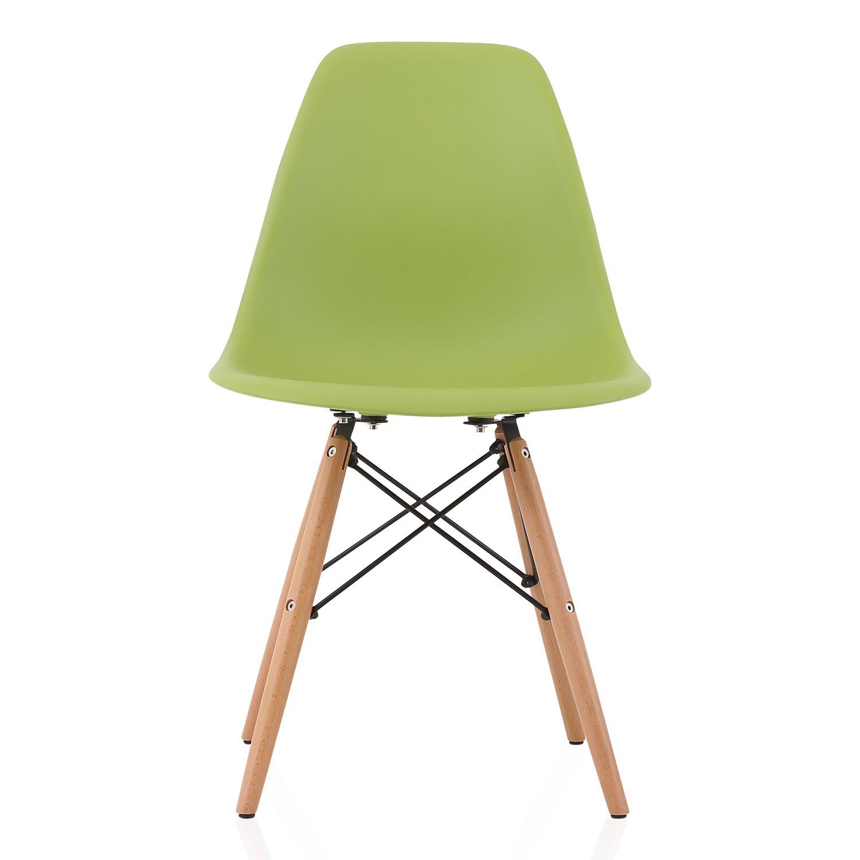 Black x x 20 L x 18.5 W x 31.5 H CozyBlock DSW-BLK-2 Molded Plastic Dining Shell Chair with Birch Wood Eiffel Legs 20 L x 18.5 W x 31.5 H Set of 2