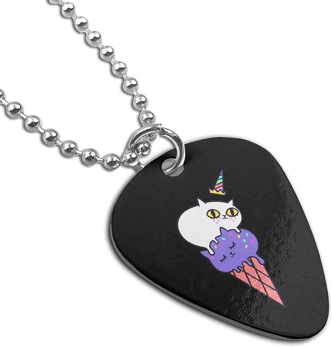Animal Ice Cream Custom Guitar Pick Pendant Necklace Keychain