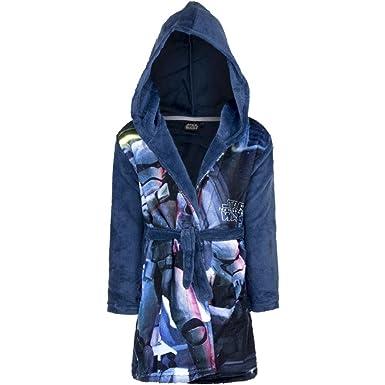 15404dd338c57 Peignoir Polaire Star Wars 8 Ans Robe de Chambre Capuche Bleu ...