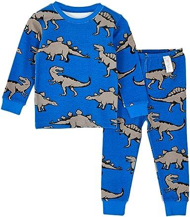 Pijama Para Niños Cálido Ropa Cómoda 2 Piezas De Invierno Homewear ...