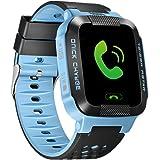 SMFR Kids Smart watch for android IOS Anti Lost GPS Tracker WristWatch Waterproof smartwatch (blue