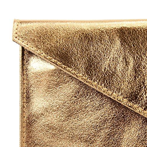 Präzise modamoda embrayage Mit M106 Farbe petit cuir Artikelnummer métallisé de Kupfergold und Metallic 151 Farbe Ital M106 8BqrxR8