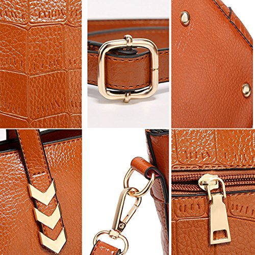Rojo SXELODIE marrón Hombro Mujer para al marrón Bolso 6Bx61F