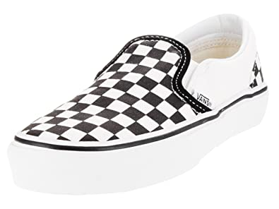 135053a2ec6dbf Vans Classic Slip-On (Preschool) Black White Checkerboard Size 1.5