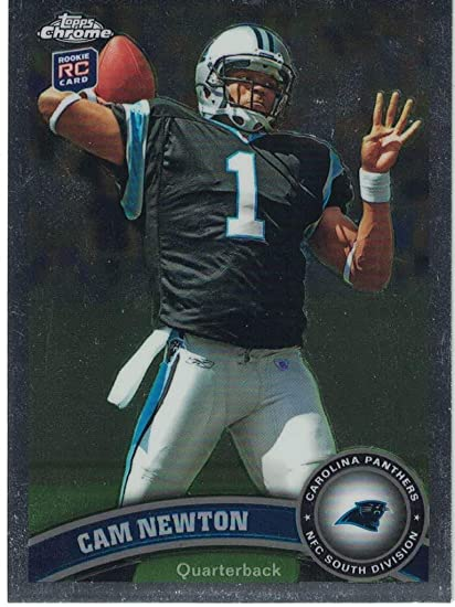 2011 Topps Chrome Cam Newton Rookie Card At Amazons Sports