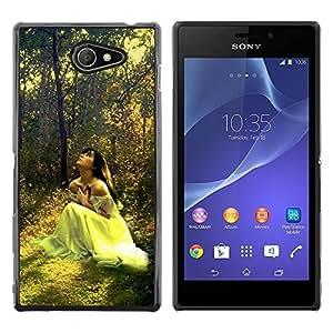 Smartphone Rígido Protección única Imagen Carcasa Funda Tapa Skin Case Para Sony Xperia M2 Design Forrest Bride / STRONG
