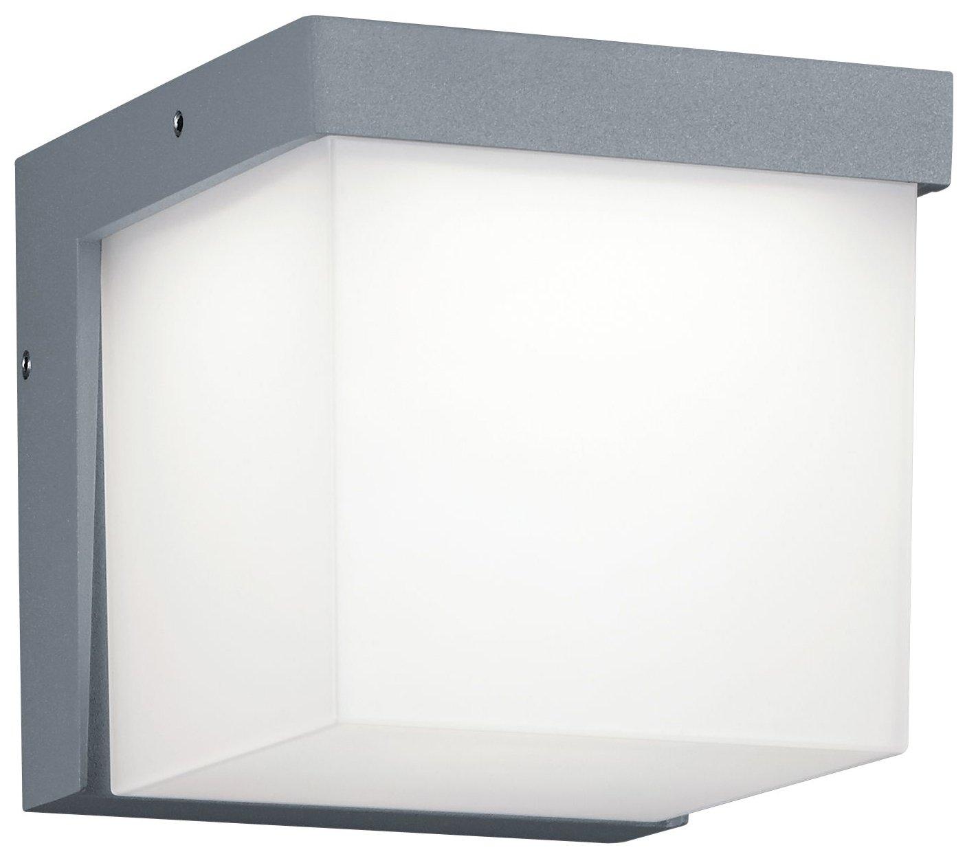 Trio Leuchten LED-Aussen-Wandleuchte Yangtze Aluminiumguss, anthrazit, Acryl weiß 228260142 [Energieklasse A++] Acryl weiß 228260142