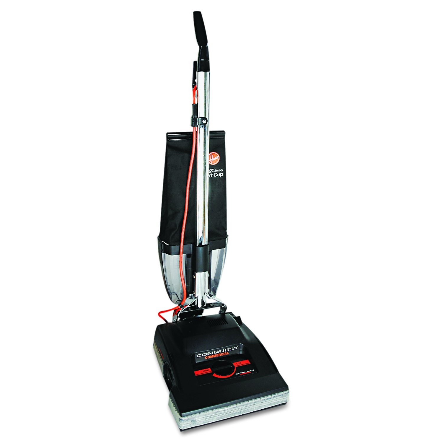 "Hoover Commercial C1800-010 Conquest Bagless Upright Vacuum with 14"" Cleaning Path"