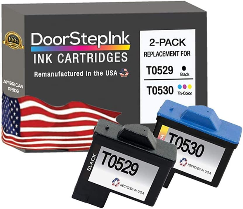 2 Black, 2-Pack HouseOfToners Remanufactured Ink Cartridge Replacement for Dell Series 1 T0529