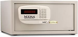 Mesa Safe Company Model MHRC916E Residential and Hotel Electronic Burglary Safe, Cream