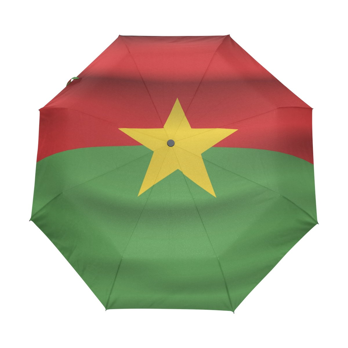 coolprintall Burkina Faso Flag軽量UPF 50 +紫外線対策パラソル防水防風3 Folds Auto Open Close Umbrella   B07DMDYMXN