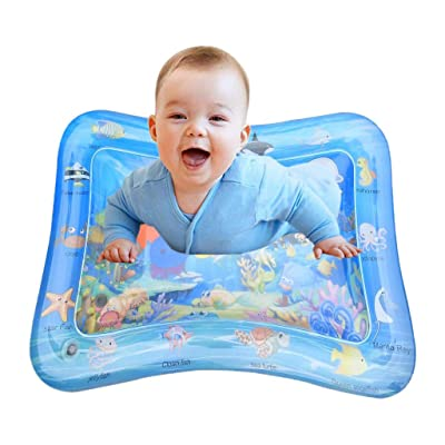 LLguz Baby Inflatable Water Pool Pad Tummy Time Play Mat Water Activity Center,Engaging Fun Summer Cooling Toys for Infant Toddler Newborn Boy Girl Age 3 Month+: Sports & Outdoors