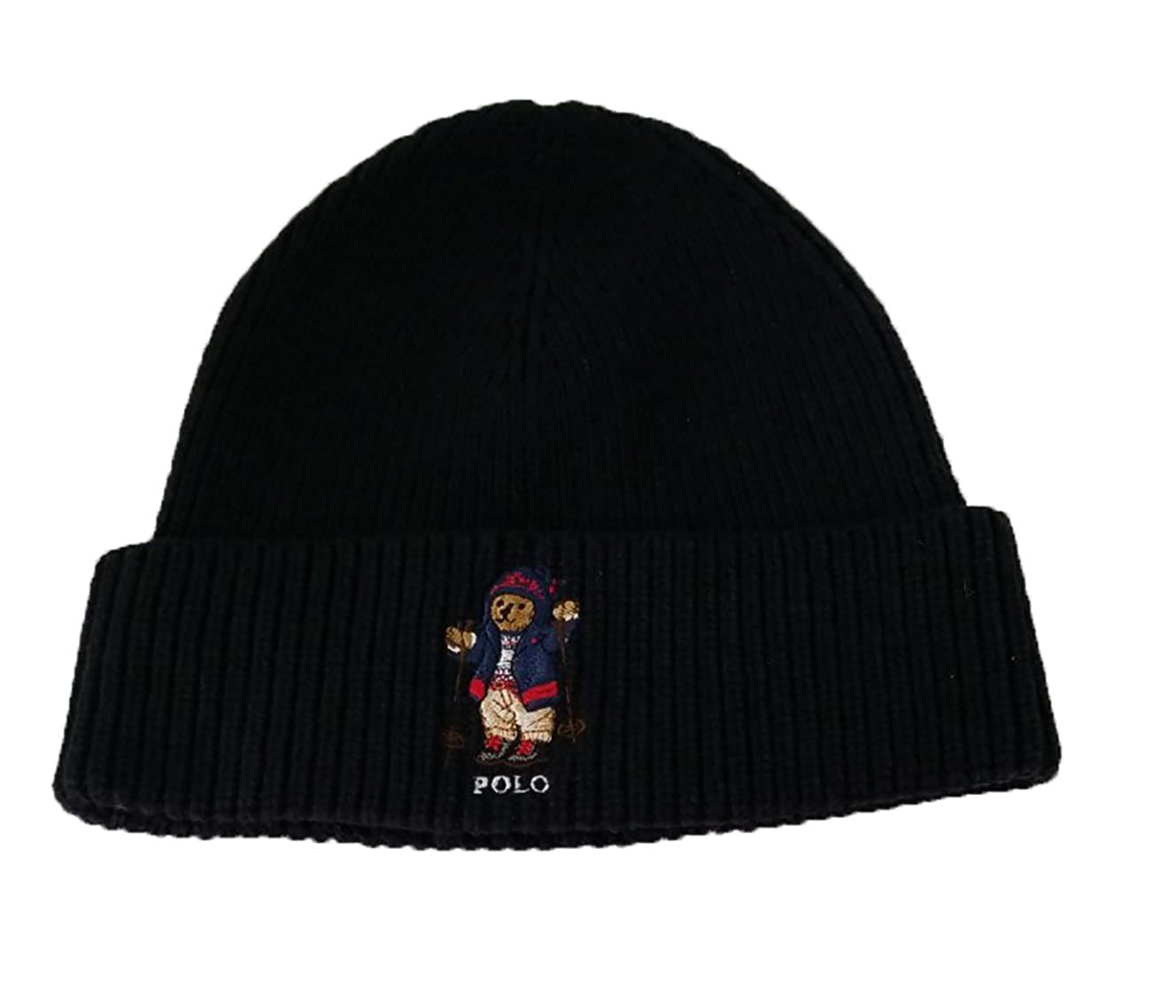 833dcdc9 Ralph Lauren Polo Men's Polo Bear Hat Skull Cap (Black/Ski Bear): Amazon.in:  Clothing & Accessories