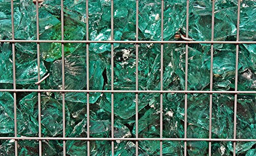 Home Comforts LAMINATED POSTER Shiny Background Glass Blocks Texture Green Grid Poster by Home Comforts