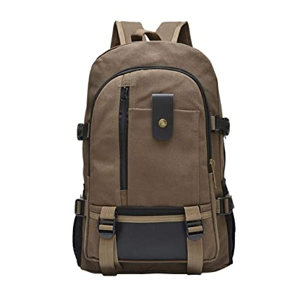 3a45696c13e9 Amazon.com: Double-Shoulder Leisure Travel Solid Color Backpack ...