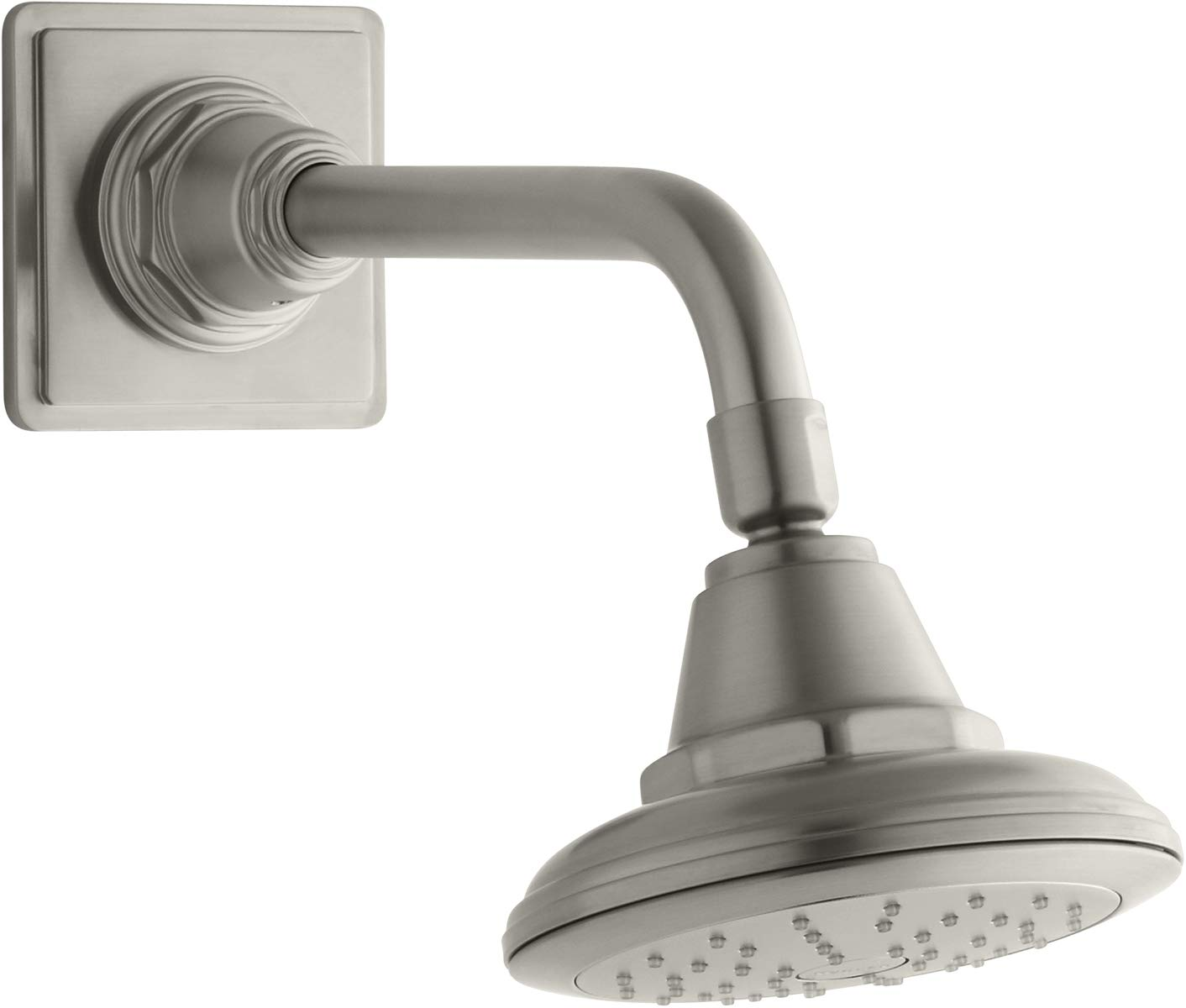 Polished Chrome KOHLER 45417-CP Pinstripe Single Function Wall Mount Showerhead with Katalyst Air Induction Spray 2.0 GPM