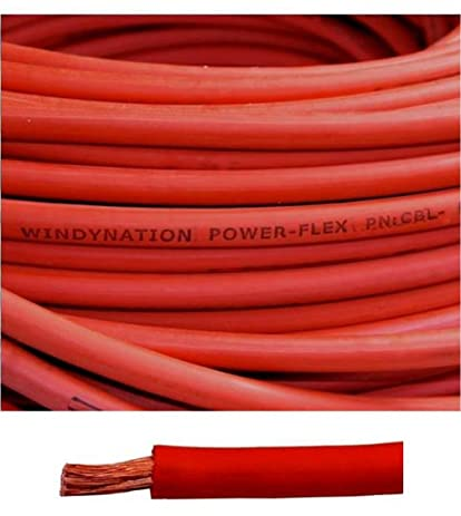 Amazon.com: 4 Gauge 4 AWG 30 Feet Red Welding Battery Pure Copper ...