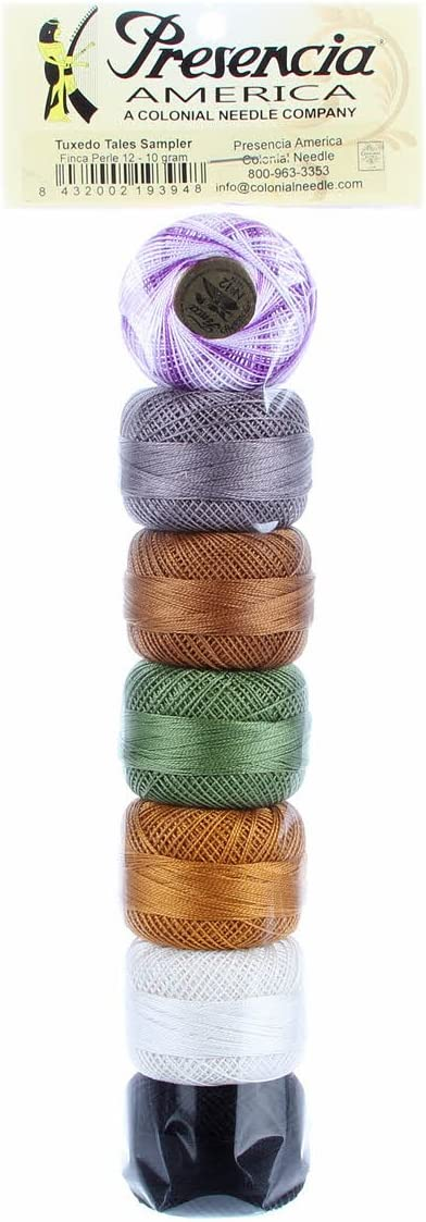 Sample Pack of Halloween Colors Embroidery Thread Pearl Cotton Size 08-10 gram