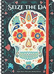 Sugar Skull 2020 - 2021 On-the-Go Weekly Planner: 17-Month Calendar with Pocket (Aug 2020 - Dec 2021, 5""