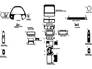 Rdash Dash Kit Decal Trim for Lexus IS 2001-2005 - Carbon Fiber 4D (Black)