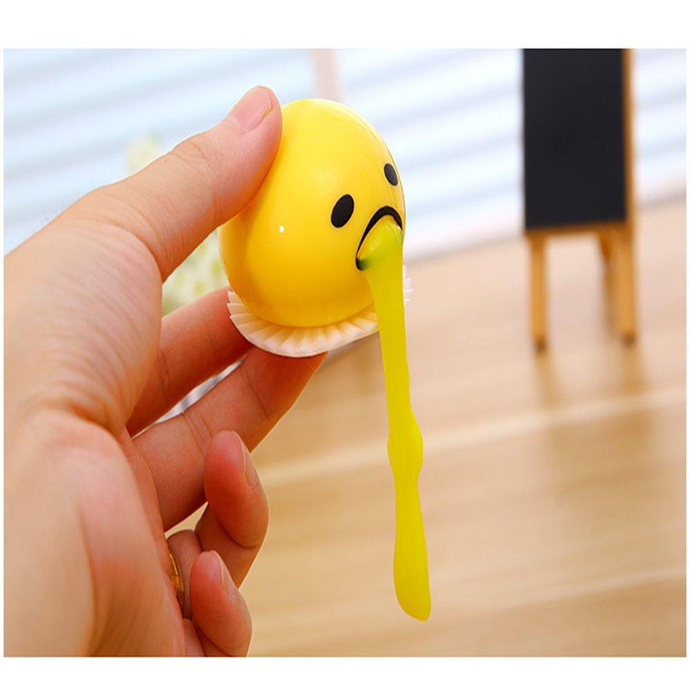 SZCSY Ronda Amarillo Linda Vomitar Y Chupar Lazy Egg Yolk Vent Stress Juego Tricky Relief Toys Juguetes creativos para chicas