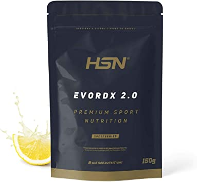 Pre Entreno Potente Evordx 2.0 de HSN   Pre Workout con Cafeína, Creatina Creapure + BCAAs + Beta-Alanina + Arginina   Óxido Nítrico   Sin ...