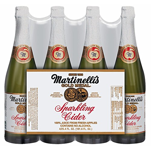 Martinelli Sparkling Apple Cider, 25.4 oz.Bottles, 4 pk. (pack of 6) by Martinelli