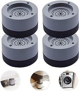 4 Pcs Anti Slip Anti Vibration Rubber Washing Machine Support, Shock and Noise Cancelling Washing Machine Feet Pads, Refrigerator Base Non Slip Grip Foot Pads Machine Stabilizer