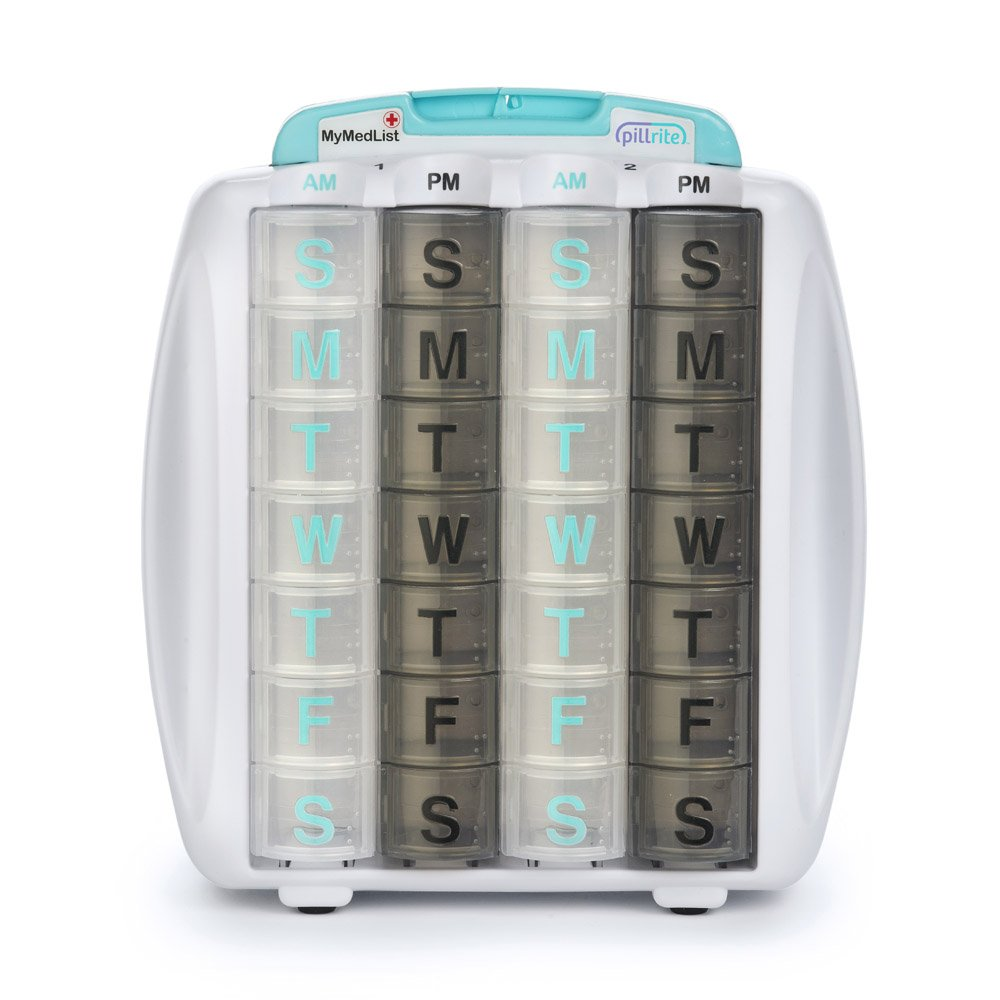 PillRite Medication and Supplement Pillbox Organizer